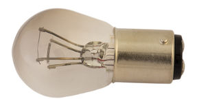 Старая электрическая лампочка для фар автомобиля Стоковые Изображения RF
