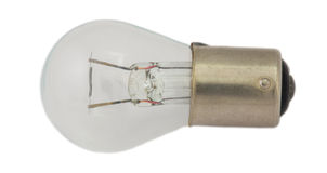 Старая электрическая лампочка для фар автомобиля Стоковое фото RF