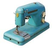 Старая электрическая швейная машина Стоковые Фото