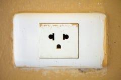 Старая электрическая штепсельная вилка гнезда Стоковое Фото