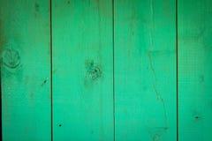 Старая яркая ая-зелен деревянная текстура планок Стоковое Фото
