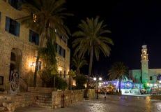 Старая Яффа на ноче. Израиль стоковая фотография rf