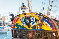 Старая яхта рангоута парусного судна Стоковые Изображения RF
