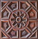 Старая деревянная высеканная панель Стоковая Фотография RF