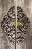 Старая деревянная дверь Стоковое Изображение