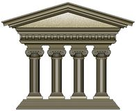 Старая Columned структура Стоковое фото RF