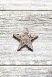 Старая grungy звезда рождества Стоковое фото RF