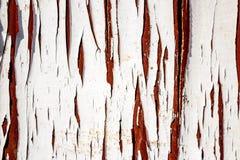 Старая grungy краска над деревянными планками стоковые фотографии rf