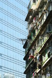 старая Hong Kong здания новая Стоковое Изображение RF