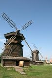 старая suzdal ветрянка деревянная Стоковое Изображение RF