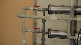 Старая unserved система отопления в продукции видеоматериал