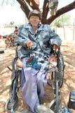Старик от племени Сан в Ботсване Стоковые Фото