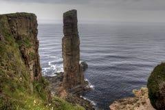 Старик Hoy, стога моря в оркнейских островах, Шотландии Стоковое фото RF