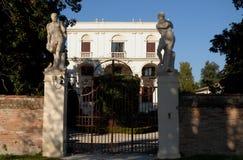 Старинная вилла в Ривьере del Brenta в провинции Венеции (Италия) Стоковые Изображения RF