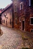 Старинная улица в польском городке Стоковая Фотография RF