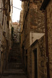 Старинная улица в Хорватии Стоковые Фото