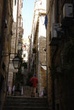 Старинная улица в Хорватии Стоковая Фотография