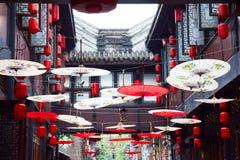 Старинная улица JinLi в Чэнду Стоковое Изображение RF