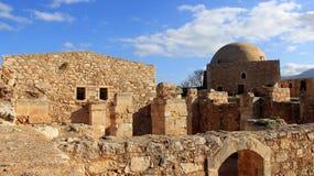 Старинное здание на историческом старом городке Rethymno Остров Греция Крита Стоковые Изображения
