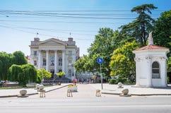 Старинное здание около бульвара Primorsky стоковое изображение