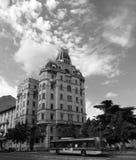 Старинное здание 2015 Италии милана B/W Стоковое Изображение