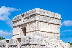 Старинное здание на Tulum, Мексике Стоковое Фото