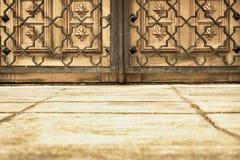 Старинные ворота и решетка цвета sepia Стоковое фото RF