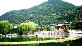старинные здания на дворце Китая XiAn видеоматериал