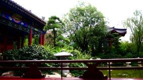 старинные здания на дворце Китая XiAn сток-видео