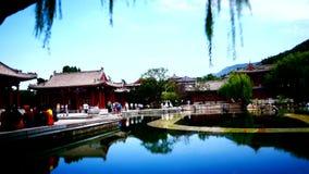 старинные здания на дворце Китая XiAn акции видеоматериалы