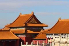 Старинные здания Китая в имперском дворце Стоковые Изображения RF