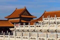 Старинные здания Китая в имперском дворце Стоковое фото RF