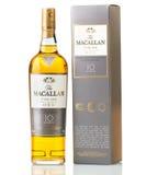 10 старого лет вискиа Macallan шотландского Стоковое Изображение
