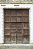 стародедовская дверь деревянная Стоковое Изображение RF