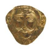 Стародедовская египетская изолированная маска золота. Стоковая Фотография