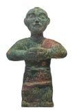 Стародедовская изолированная статуя китайского человека. стоковая фотография