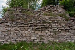 стародедовская кирпичная стена Стоковое Фото