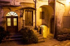 стародедовская ноча halloween дверей города Стоковое Изображение RF