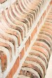 Стародедовская перспектива кирпичной стены стоковые изображения