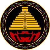 стародедовская пирамидка maya иллюстрация штока