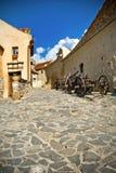 стародедовская средневековая улица стоковое изображение rf