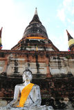 стародедовская статуя города Будды предпосылки тайская Стоковое фото RF