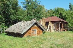 стародедовская сторновка крыши амбара Стоковое Изображение RF