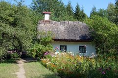 стародедовская сторновка крыши хаты Стоковое Изображение RF