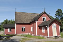 стародедовская церковь деревянная Стоковые Изображения RF