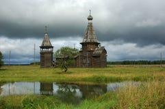 стародедовская церковь деревянная Стоковые Изображения