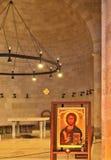 Стародедовская церковь на море Галилея. стоковые фотографии rf