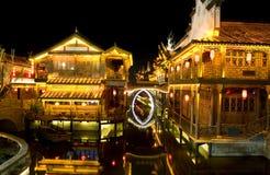 стародедовская часть ночи города Стоковые Фотографии RF