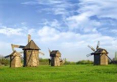 стародедовские ветрянки Стоковые Фотографии RF