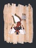 стародедовские египетские osiris бога крася papyrus Стоковое Изображение